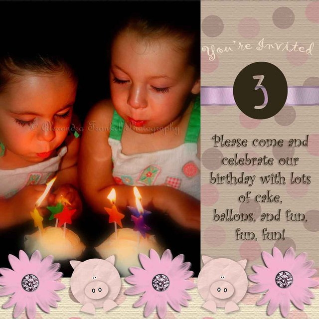scrapbook layouts twins birthday card design, Birthday card